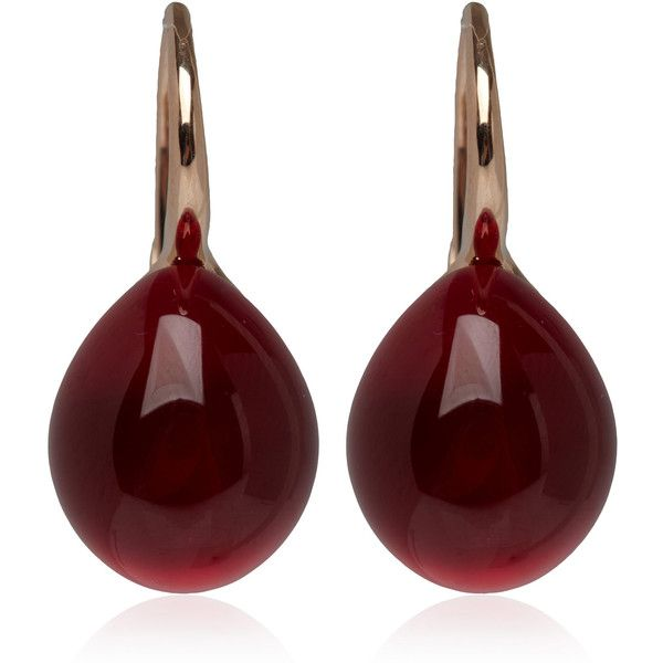 Pomellato Rouge Passion Burma Earrings found on Polyvore