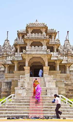 Entering Ranakpur temple gujarat india  - loved & pinned by www.omved.com