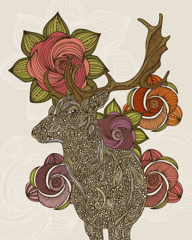 Inkwings by ValentinaDeer Lord, Deer Art, Art Inspiration, Dear Deer, Valentina Ramos, Art Design, Living Room, Art Prints, Valentina Harpers