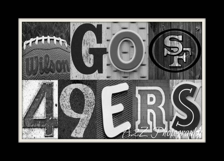 San francisco 49ers football letter art print 8x10 fine art wall art home decor