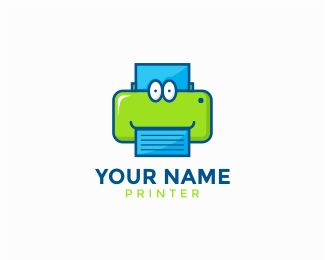 "Printer Logo Logo design - - Text can be customize, just click ""customize"" and…"