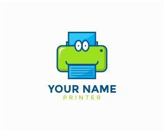 """Printer Logo Logo design - - Text can be customize, just click """"customize"""" and…"""