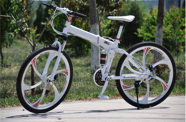 26 inch folding mountain bike double disc brakes MTB Scalable 24s 27s and aluminum frame