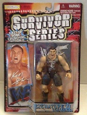 (TAS012597) - WWF WWE Wrestling Figure Jakks Survivor Series - Ken Shamrock