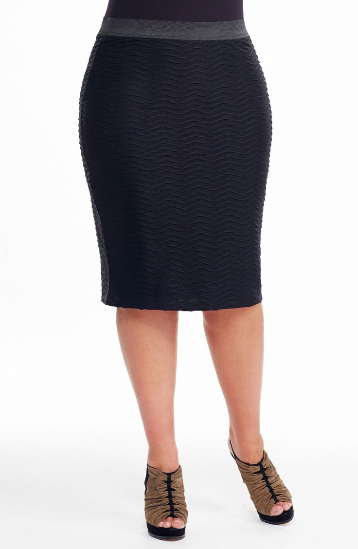 Long Line Tube Skirt | Black Style No: SK8061 Textured super stretch Polyester Jersey fabric tube skirt. This skirt has an elasticized band waistline and is Fully lined in a lightweight stretch fabric. This Skirt is great worn on its own or as a layering piece. #dreamdiva #dreamdivafiles #plussize