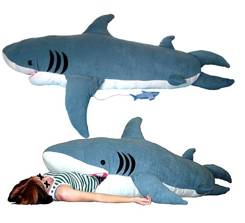 Shark Sleeping Bag!: Probably not best to have around little kids for the camping trip.