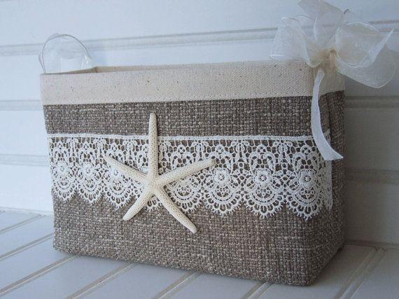 Coastal Wedding Card Basket With Starfish And By Coastalseasons
