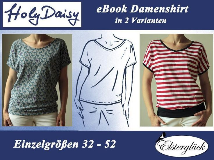 eBook HolyDaisy Schnittmuster Damen Sommershirt von Elsterglück auf DaWanda.com
