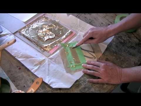 Encaustic Techniques 2 Metal Leaf - YouTube