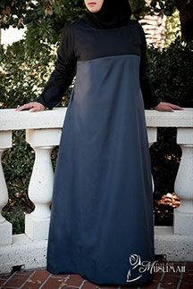 Colorblock Black and Gray Long Dress - $32.19 : Plus Size Muslimah :: Plus Size Islamic Dress for Women, plus size Islamic clothing, plus size abaya, plus size modest clothes, ankle length skirt, full length dress, Plus size Islamic dress for women. Get trendy Islamic clothing in plus sizes, plus size abayas, plus size jilbabs, and more.