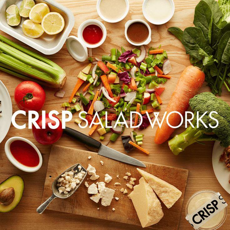 CRISP SALAD WORKS(クリスプ・サラダワークス)は、美味しくて満足できるサラダを、一つひとつ手づくりで提供するカスタムサラダ専門のレストランです。