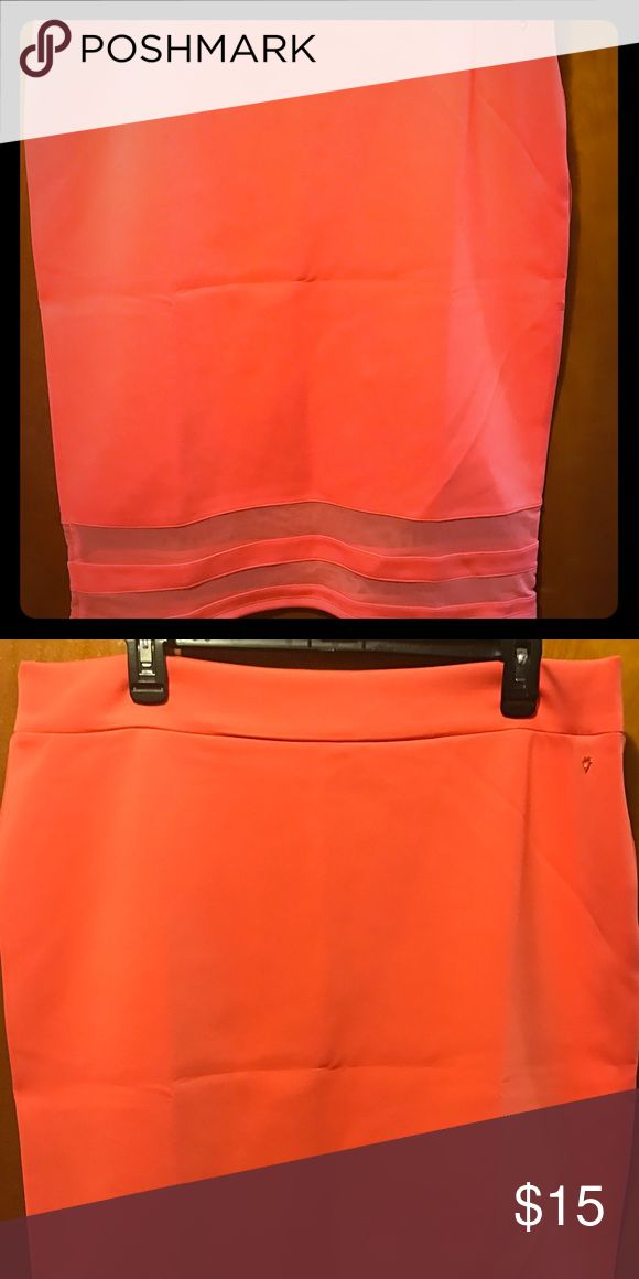 Coral Pencil Skirts EUC Worn once! Beautiful and soft Coral pencil skirt! Size XL Skirts Pencil