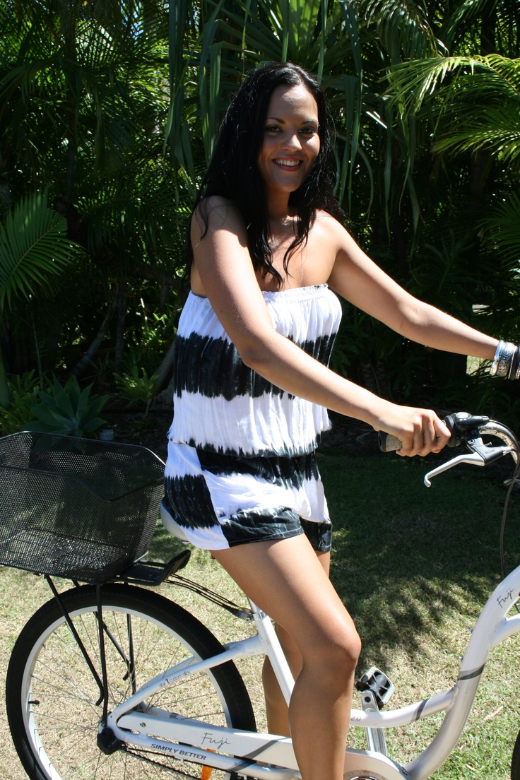"www.ladywatego.com  ""Agyness"" jumpsuit in black and white tie dye-great for summer fun!"