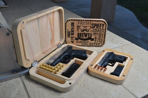 Wooden Gun Case  by SpiffyBrewed on Etsy