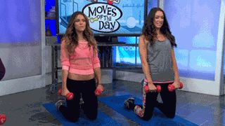 """Target your core and the front of your legs with the """"Hee-haw Cheerio"""" and """"Tipsy Starfish"""" moves by personal trainers Katrina Hodgson and Karena Dawn"""