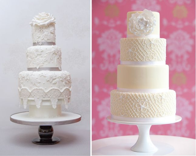 {Wedding Trends} : Lace Cakes - Part 3 via Belle The Magazine