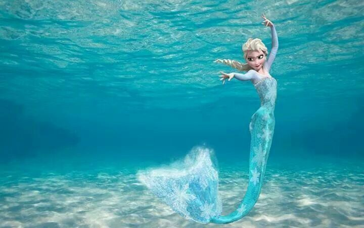 Elsa Mermaid. Disney+Mermaids= best thing ever! You can be a real mermaid too with Fin Fun's real swim-able mermaid tail from FinFunMermaid.com