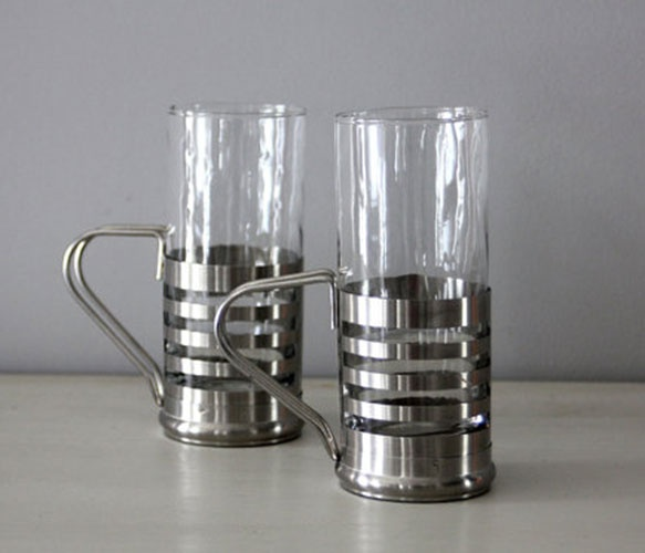 Silver Banded Glasses :]: Russian Tea