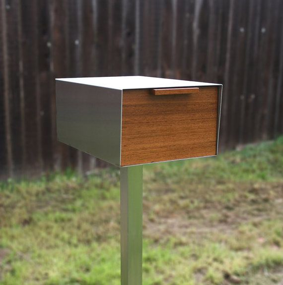 This listing is for the mailbox only it does not include the post. This mailbox is called slide because it slides opens like a drawer. The drawer slide