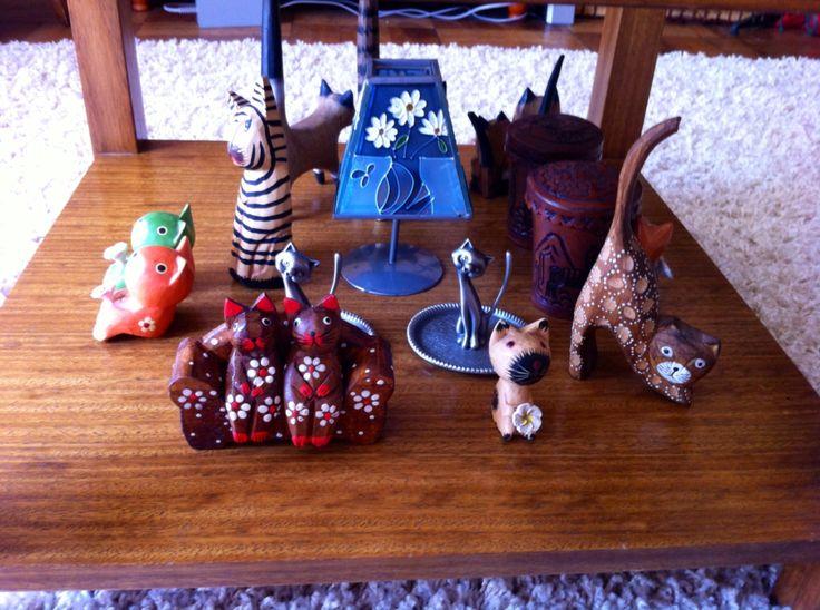 #colección #gatos #madera #adorno #regalo