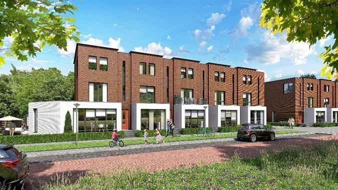 Parkwoningen Rumbastraat - Zuidbroek fase 3, prijs €234.500,-, woonoppervlakte 164 m²  Het project bestaat uit 15 rijwoningen, gebouwd in een blokje van 5 en in een blokje van 10 woningen. Deze mooie, moderne woningen zijn ruim van opzet en bieden zelfs de mogelijkheid een kantoor aan huis te realiseren.