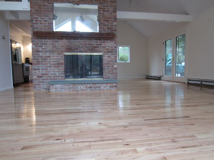 Water Based Poly Better For Natural Stain Less Yellow Red Oak Floors Natural Oak Flooring Red Oak Hardwood Floors