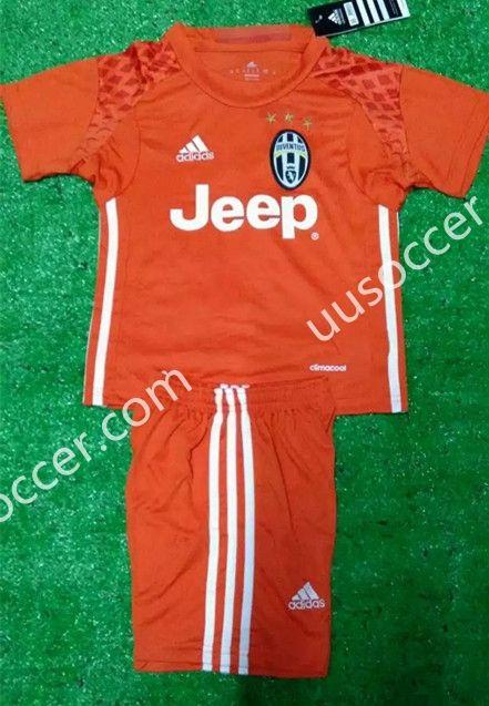 2016/17  Juventus  Goalkeeper Orange Kid/Youth Soccer Uniform