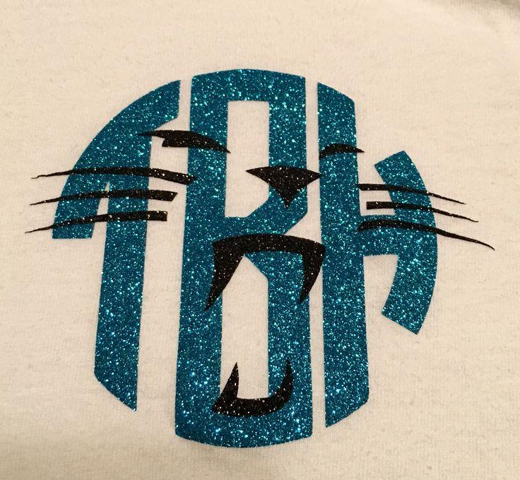 Personalized Carolina Panthers Shirt, Monogram, Glitter Vinyl Heat  Transfer, Panther Nation, Keep