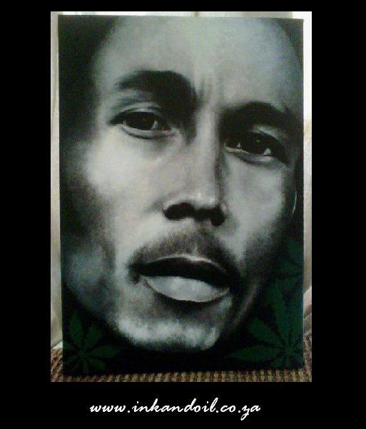 Bob Marley portrait painting 2  Acrylic on Canvas