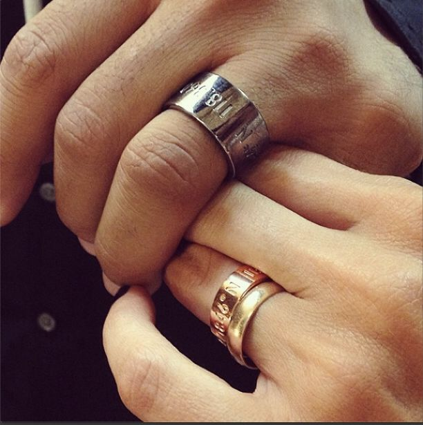Coordinates Collection - Legend Ring (gold) & Horizon Ring (silver)