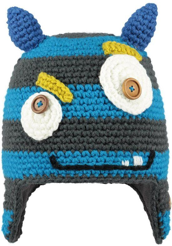 Barts Monster Beanie - Muts - Jongens - One size - Blue