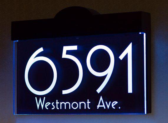 12 V Dc Custom Illuminated Led Lighted Address Plaque Sign House