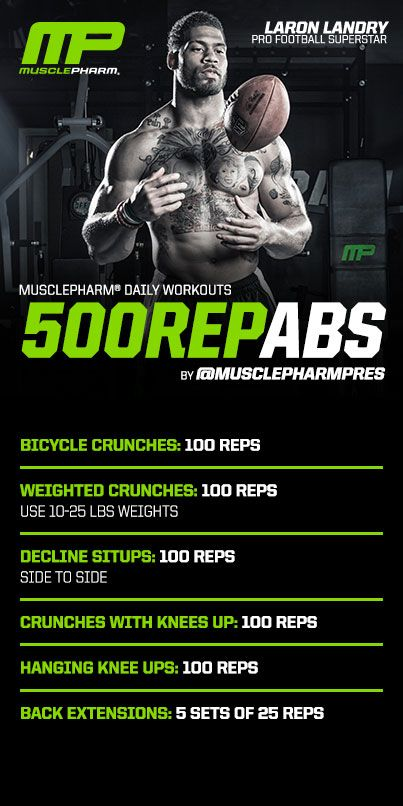 500 Rep Abs #musclepharm workout