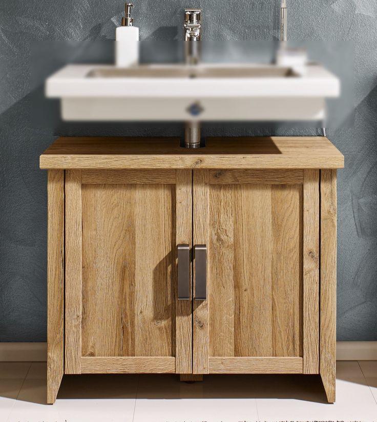 Die besten 25+ Waschbeckenunterschrank holz Ideen auf Pinterest - badezimmer aus holz