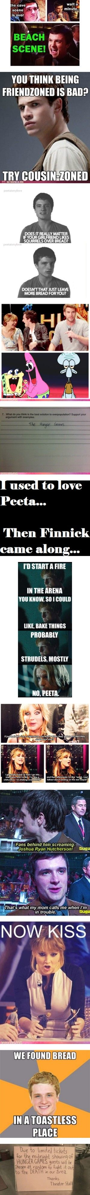 Why does everyone love Finnick? I really don't get it. Peeta FTW!!!<< NOPE FINNICK
