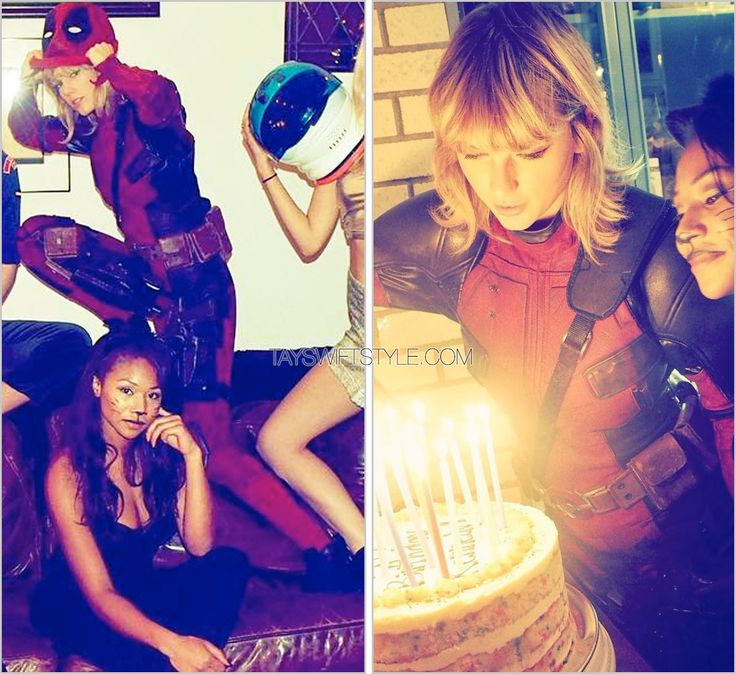 Happy Halloween (x) | October 31, 2016 Angus Strathie custom While I do have a hard time believing that either Taylor Swift is Ryan Reynolds-size or that Ryan Reynolds is Taylor Swift-size, from...
