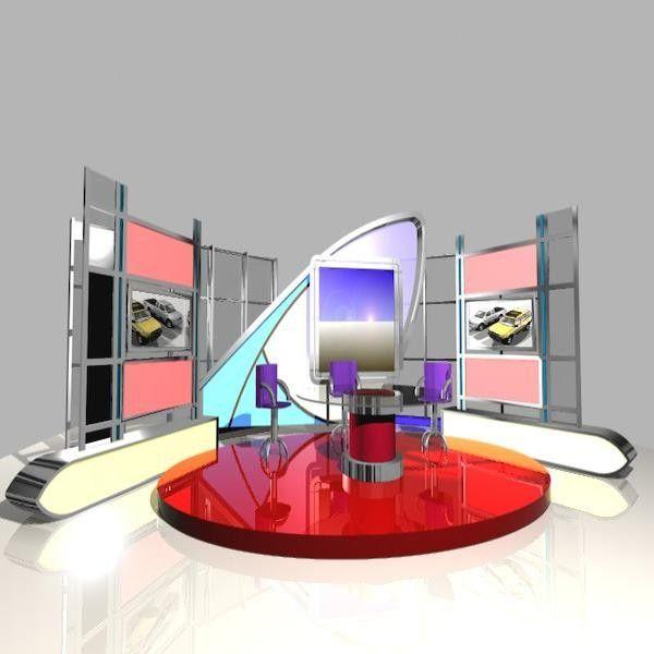 3d Model News Studio 005