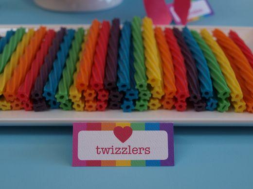 Fun rainbow Twizzlers #rainbow #candy