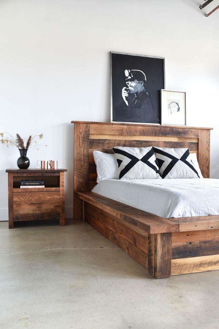 Reclaimed wood bed frames - Reclaimed Wood Platform Bed