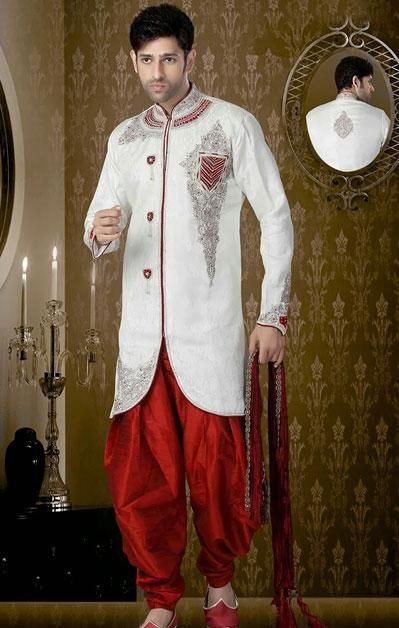 USD 149.93 White Sequin Work Suit With Purple Patiala  40924