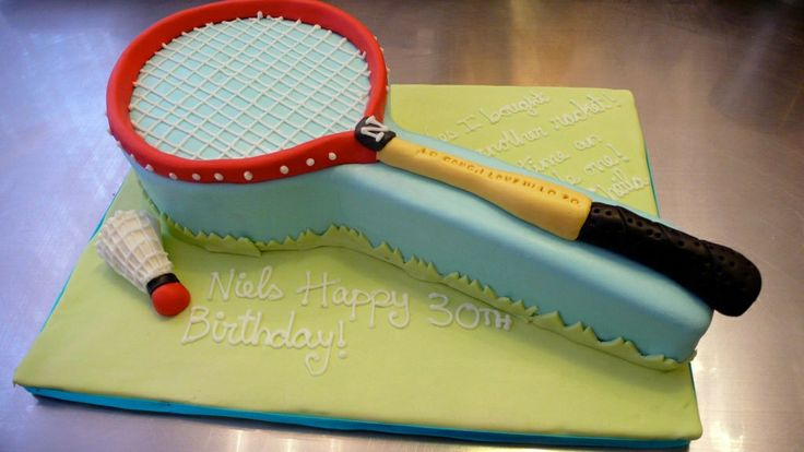 Badminton Racket Birthday Cake