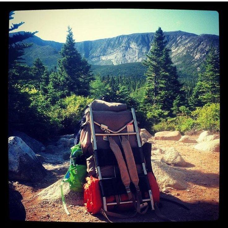 Old School Pack - Chimney Pond Trail Mt. Katahdin - Maine http://ift.tt/2zrypOt