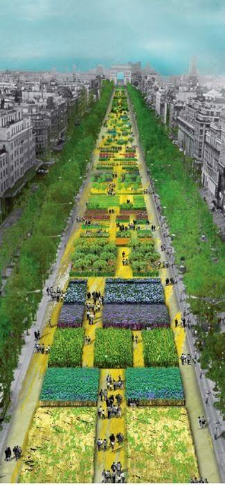Champs Elysées, Paris, France Ce fut incroyable. Les agriculteurs ont apporté cultures et les animaux aux Champs Elysées pour rappeler aux gens l'importance de l'agriculture. Vraiment intéressant, mais une telle journée chaude pour les animaux.