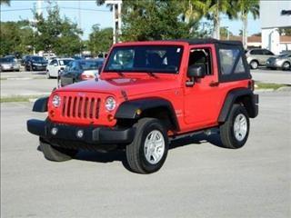2012 Red Jeep Wrangler Sport http://www.iseecars.com