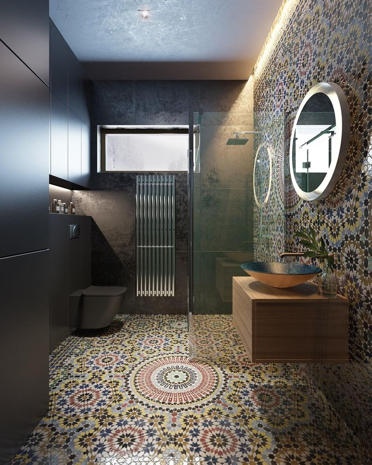42 best bathrooms images on pinterest bathroom half for Moroccan bathroom design ideas