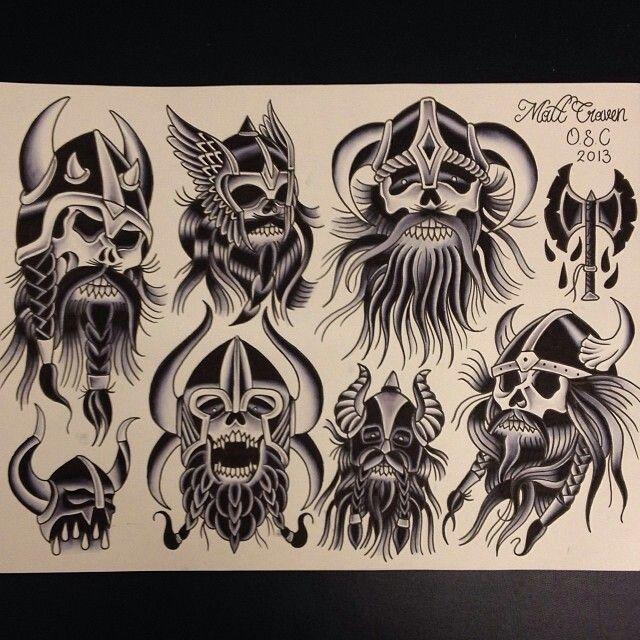 Viking skull tattoos | Jason | Pinterest