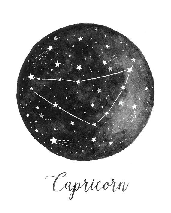 Capricorn Constellation Illustration - Vertical Amy Rogstad | Fercute
