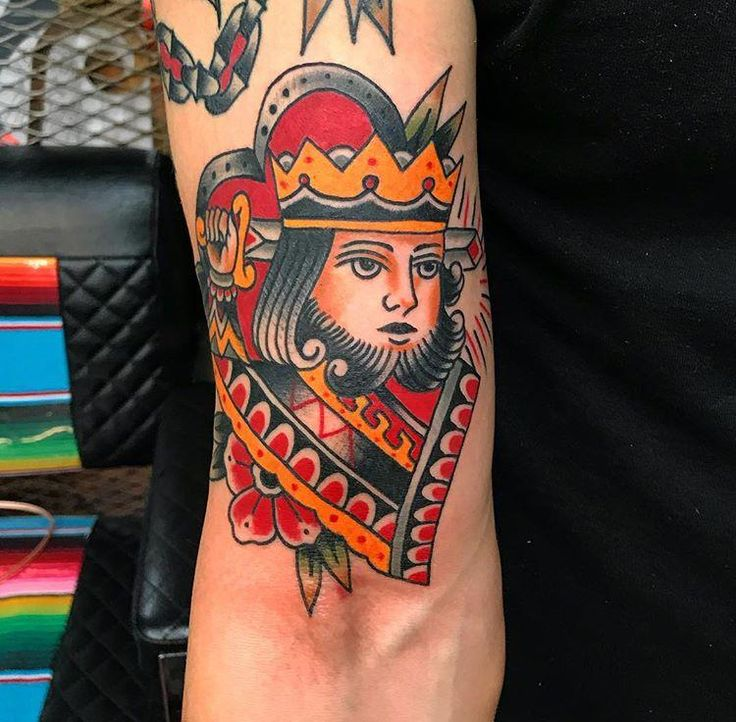 Suicide King done by Mikey Sarratt at High Noon Tattoo in PHX AZ