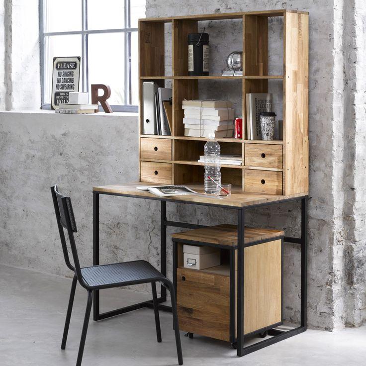 Les 25 meilleures id es de la cat gorie meuble ordinateur ikea sur pinterest - Caisson bureau industriel ...
