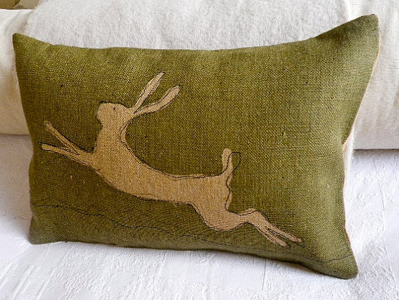 Inspiration: sew a decal onto a store bought pillow case to personalize it?
